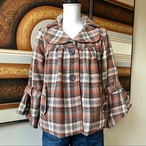 Vintage 1990s Plaid Swing Jacket